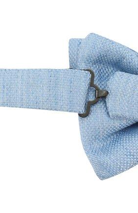 Галстук-бабочка из смеси льна и шелка | Фото №3