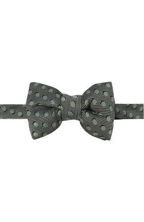 Мужской шелковый галстук-бабочка TOM FORD салатового цвета, арт. 3TF48/4CH | Фото 1