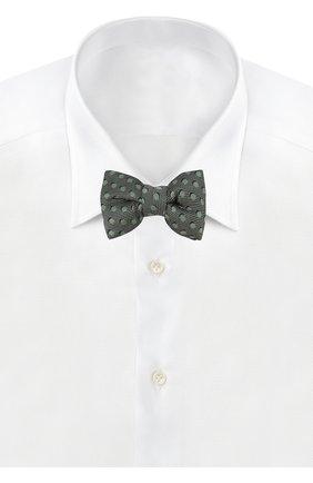 Мужской шелковый галстук-бабочка TOM FORD салатового цвета, арт. 3TF48/4CH | Фото 2