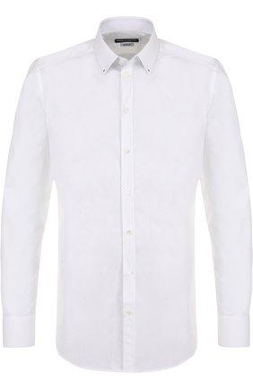 Мужская хлопковая сорочка с воротником кент DOLCE & GABBANA белого цвета, арт. G5EY8Z/FU5GK | Фото 1