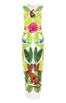 Приталенное платье-миди с принтом | Фото №1