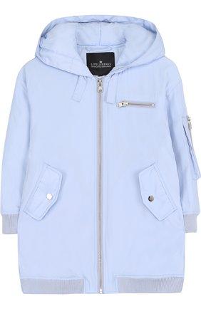 Удлиненная куртка на молнии с капюшоном | Фото №1