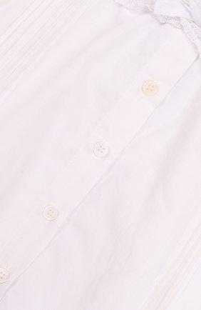 Хлопковая юбка с кружевной отделкой | Фото №3