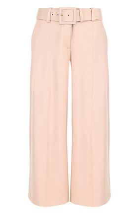 Укороченные расклешенные брюки из шерсти | Фото №1