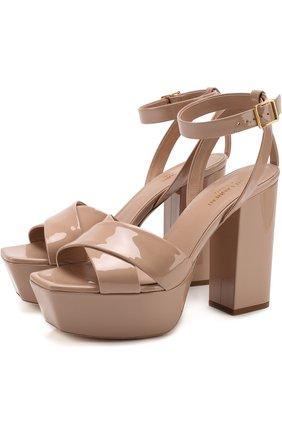 Лаковые босоножки Farrah на устойчивом каблуке и платформе | Фото №1