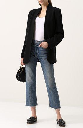 Кожаные лоферы Malinda с декорированной пряжкой Bally кремовые | Фото №1