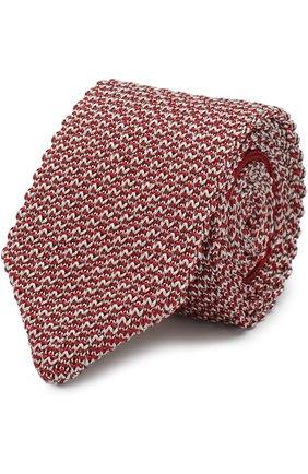 Мужской шелковый вязаный галстук GIORGIO ARMANI разноцветного цвета, арт. 360056/8P970 | Фото 1