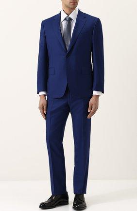 Мужская хлопковая сорочка с воротником кент BRIONI светло-голубого цвета, арт. RCL96B/P707V | Фото 2