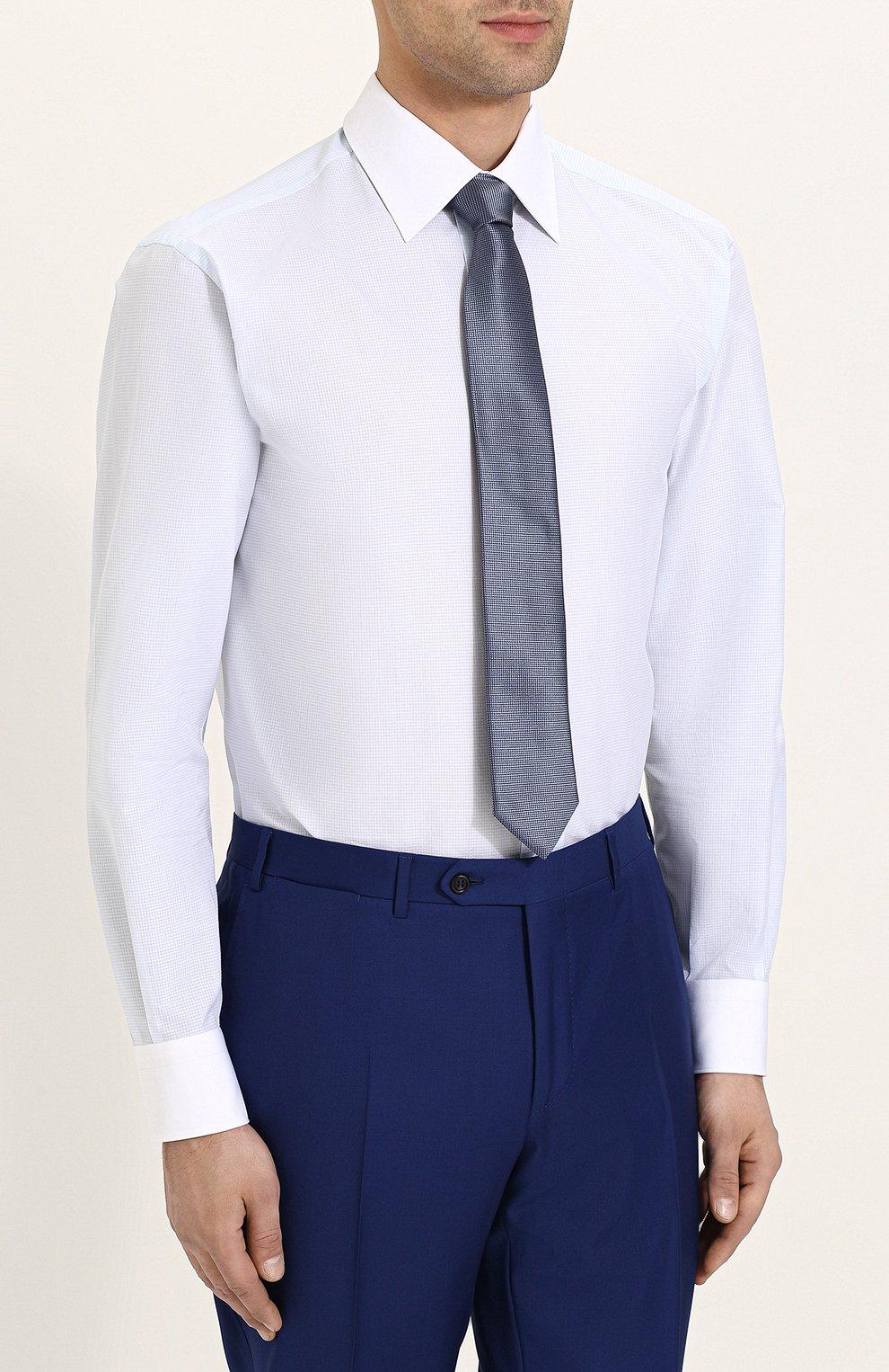 Мужская хлопковая сорочка с воротником кент BRIONI светло-голубого цвета, арт. RCL96B/P707V   Фото 4