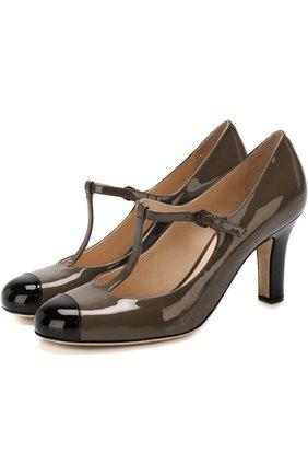 Лаковые туфли с ремешками | Фото №1