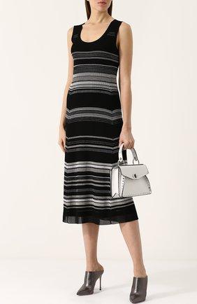 Вязаное платье-миди без рукавов Proenza Schouler черное | Фото №1