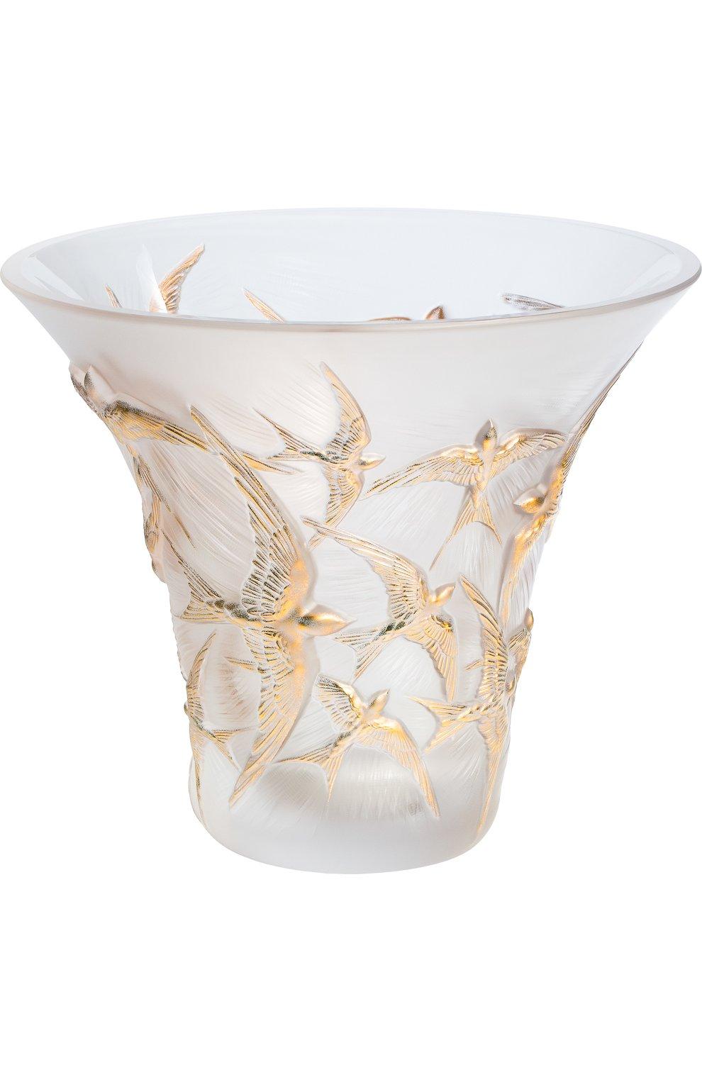 Мужского ваза hirondelles LALIQUE золотого цвета, арт. 10624000 | Фото 1