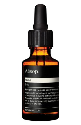 Женского масло для волос shine AESOP бесцветного цвета, арт. AHR25 | Фото 1