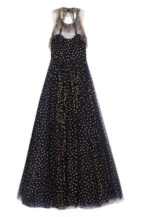Приталенное платье-макси с открытой спиной | Фото №1