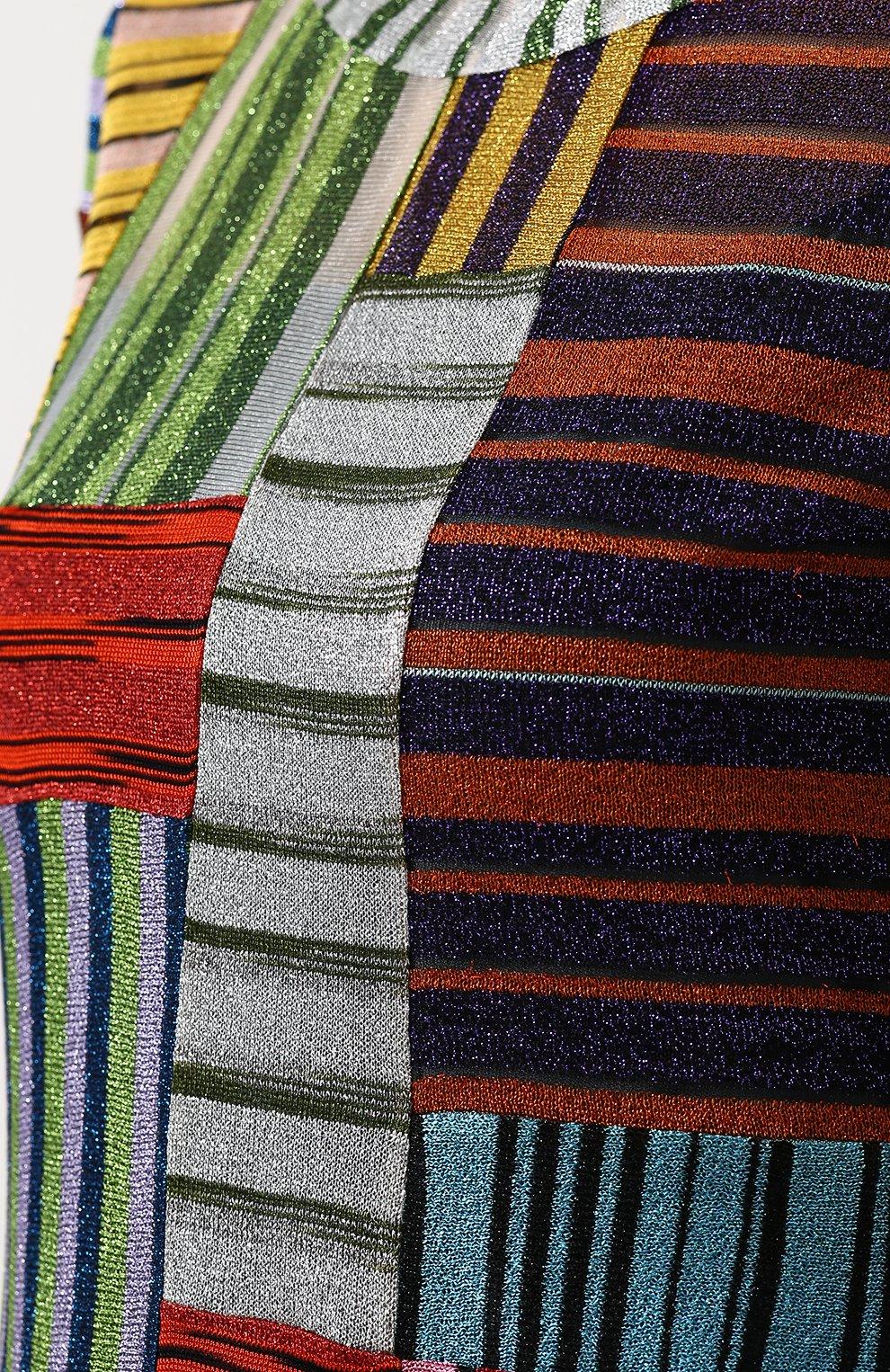 Приталенное вязаное платье-макси | Фото №5