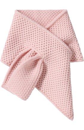 Кашемировый шарф фактурной вязки | Фото №1