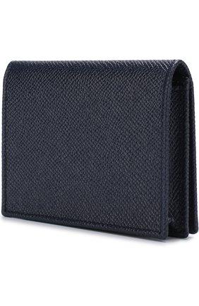 Мужской кожаный футляр для кредитных карт с клапаном DOLCE & GABBANA синего цвета, арт. BP1643/AI359   Фото 2
