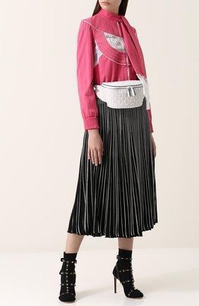 Женские текстильные ботильоны valentino garavani free rockstud bodytech на шпильке VALENTINO черного цвета, арт. PW2S0F98/LHG | Фото 2