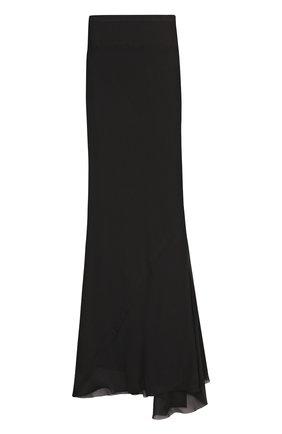 Шелковая юбка-миди асимметричного кроя | Фото №1