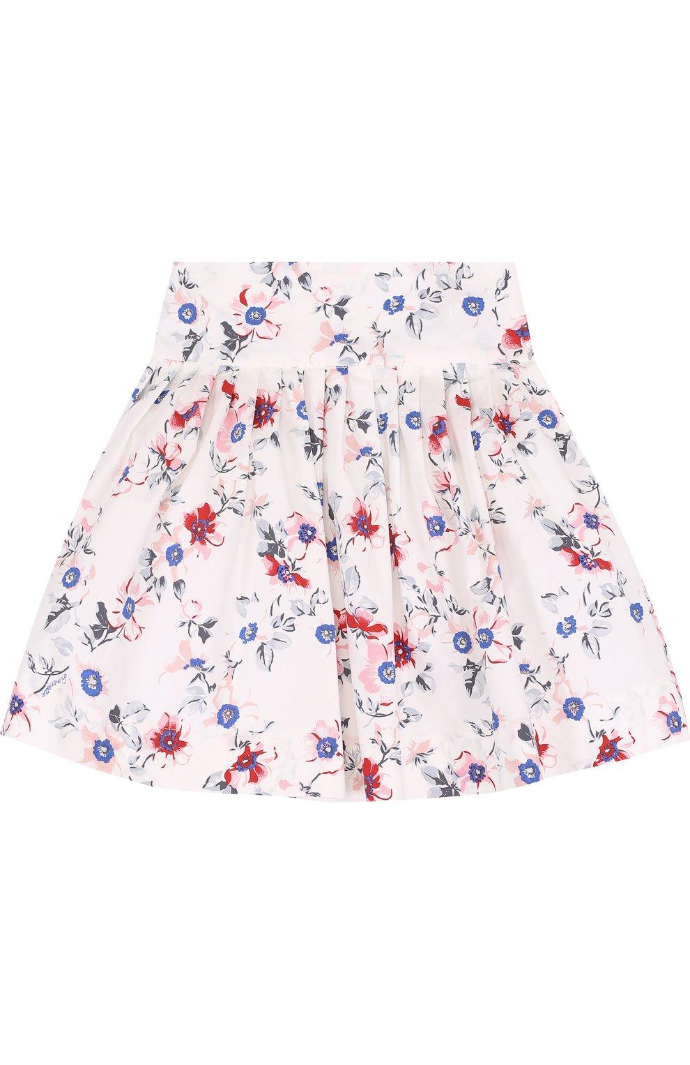 Хлопковая юбка с принтом | Фото №1