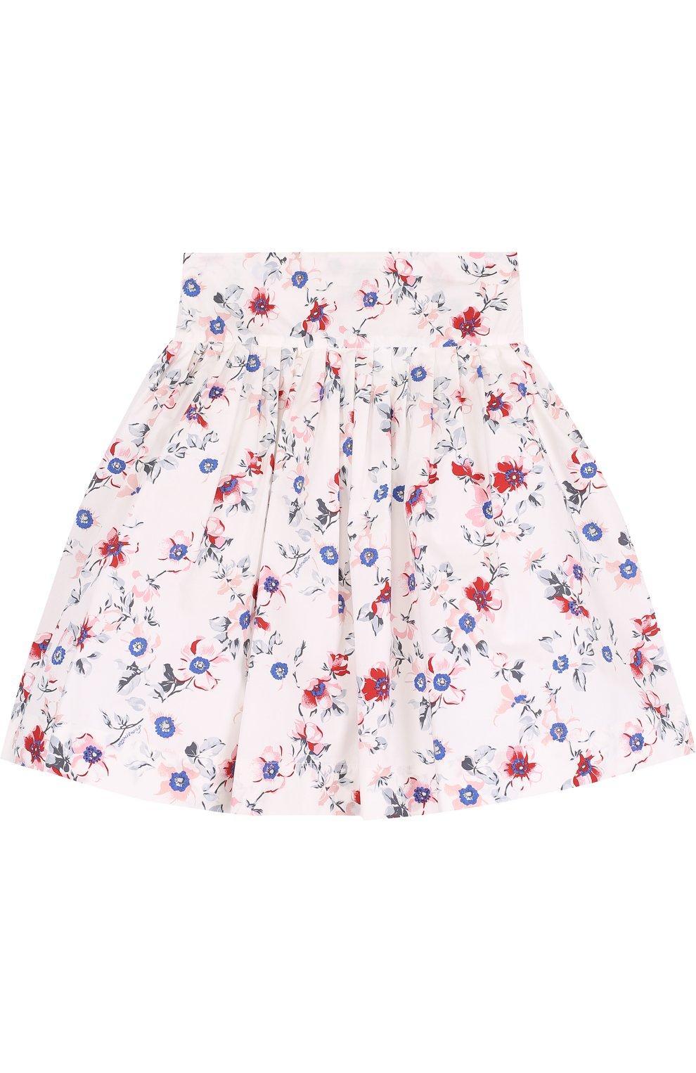 Хлопковая юбка с принтом   Фото №1
