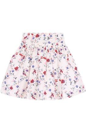 Хлопковая юбка с принтом   Фото №2