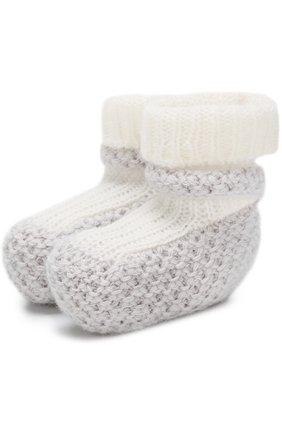 Детские кашемировые носки фактурной вязки LORO PIANA серого цвета, арт. FAG2016 | Фото 1