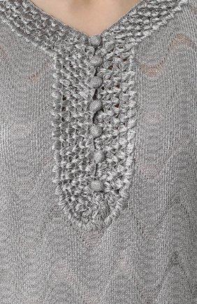 Вязаное мини-платье с V-образным вырезом | Фото №5