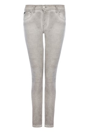 Женские джинсы-скинни с потертостями POLO RALPH LAUREN серого цвета, арт. 211683972 | Фото 1