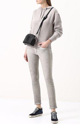 Женские джинсы-скинни с потертостями POLO RALPH LAUREN серого цвета, арт. 211683972 | Фото 2