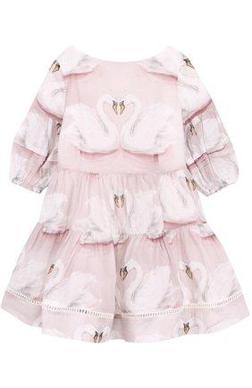 Платье свободного кроя с принтом | Фото №1