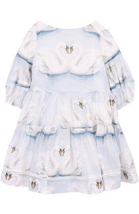 Платье свободного кроя с принтом   Фото №1