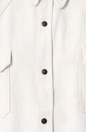 Джинсовая рубашка на кнопках CALVIN KLEIN 205W39NYC белая | Фото №5