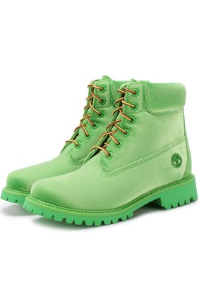 Текстильные ботинки OFF-WHITE x Timberland  | Фото №1