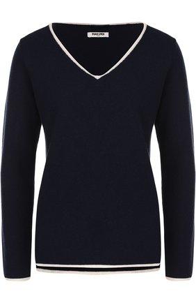 Пуловер из смеси шерсти и кашемира с V-образным вырезом | Фото №1