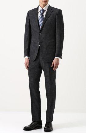 Мужские кожаные оксфорды BRIONI черного цвета, арт. QEDT0L/P6757 | Фото 2 (Статус проверки: Проверено, Проверена категория; Стили: Классический)