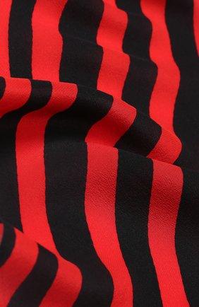 Шелковый шарф с принтом Rockins красный | Фото №1