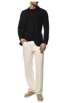 Мужской однобортный шерстяной пиджак LORO PIANA темно-синего цвета, арт. FAF6744 | Фото 2