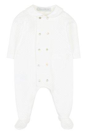 Детский комбинезон джерси TARTINE ET CHOCOLAT белого цвета, арт. TL32041 | Фото 1