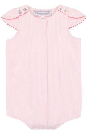 Детское хлопковый песочник TARTINE ET CHOCOLAT светло-розового цвета, арт. TL33131   Фото 1