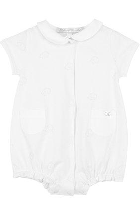 Детское хлопковый песочник TARTINE ET CHOCOLAT белого цвета, арт. TL33141   Фото 1