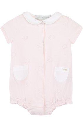 Детское хлопковый песочник TARTINE ET CHOCOLAT светло-розового цвета, арт. TL33141   Фото 1