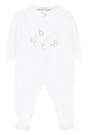 Детский хлопковая пижама с вышивкой TARTINE ET CHOCOLAT белого цвета, арт. TL54061 | Фото 1