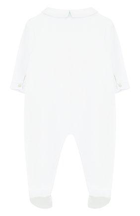Детский хлопковая пижама с вышивкой TARTINE ET CHOCOLAT белого цвета, арт. TL54061 | Фото 2