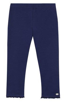 Детские хлопковые брюки с оборками TARTINE ET CHOCOLAT темно-синего цвета, арт. TL24001/2A-3A | Фото 1