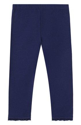 Детские хлопковые брюки с оборками TARTINE ET CHOCOLAT темно-синего цвета, арт. TL24001/2A-3A | Фото 2