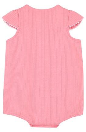 Детское хлопковый песочник TARTINE ET CHOCOLAT розового цвета, арт. TL33131   Фото 2