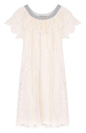 Кружевное платье свободного кроя | Фото №1