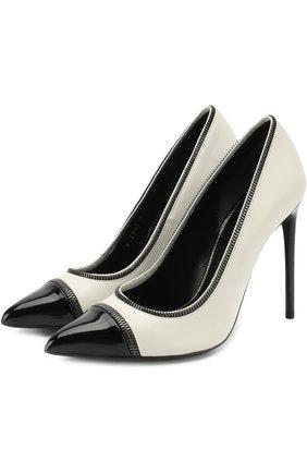 Кожаные туфли Zip на шпильке | Фото №1