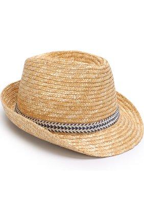 Детская соломенная шляпа с лентой IL TRENINO бежевого цвета, арт. 18 5971/E0 | Фото 2